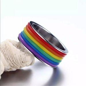 Rainbow Pride Ring Unisex Multicolor
